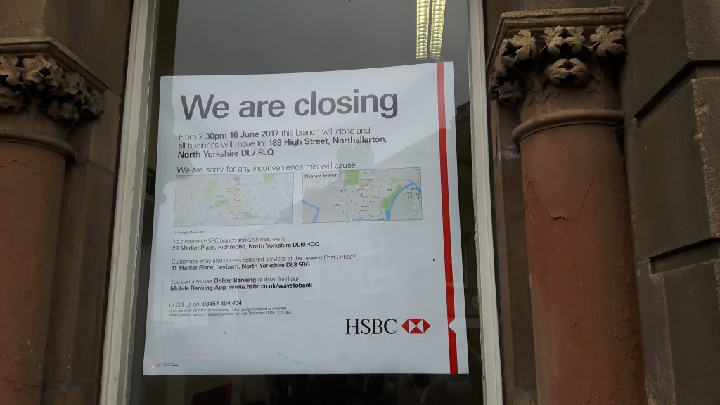 HSBC building in Leyburn to be sold off - Richmondshire Today
