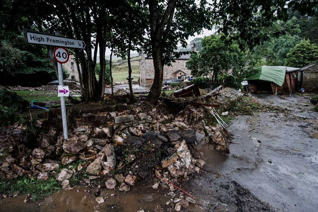 PHOTOS: Clearing Up After The Floods In Swaledale