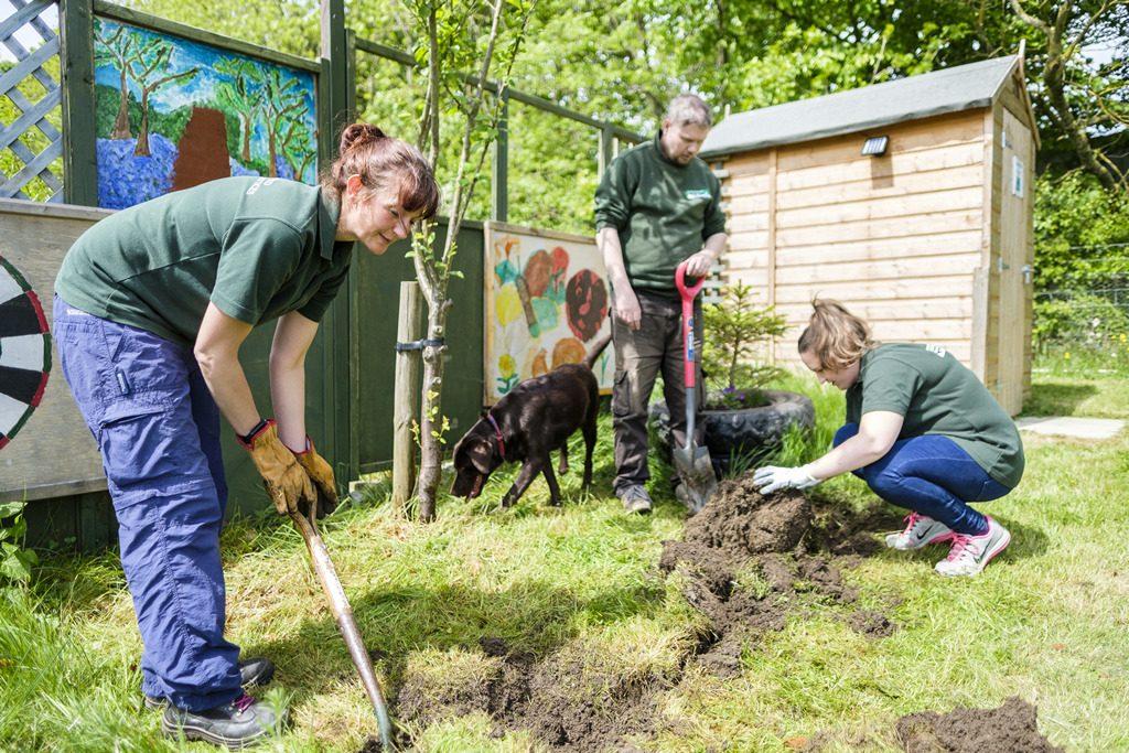 [ 23 de mayo de 2017 ] FOTOS: Hacer un spot de jardinería con la organización de caridad local, Sólo las Características del Trabajo - Richmondshire Hoy 23