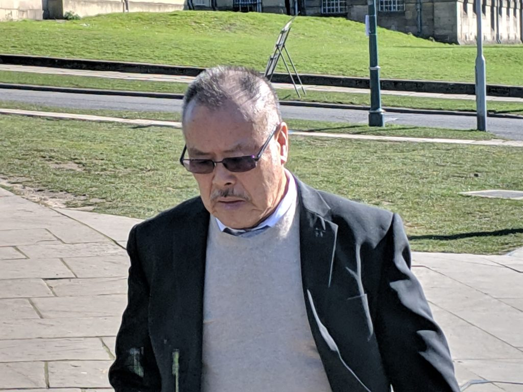 Pensioner who exposed himself and performed sex act in